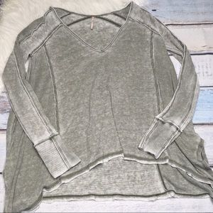 Free People long sleeve green top size M